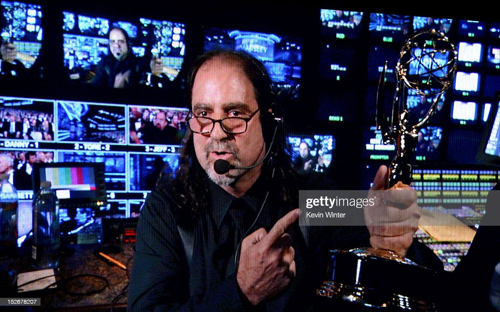 Director Glenn Weiss accepts the Outstanding Directing for a Variety, Music, or Comedy Special Award for 65th Tony Awards during the 64th Annual Primetime Emmy Awards at Nokia Theatre L.A. Live on September 23, 2012 in Los Angeles, California.