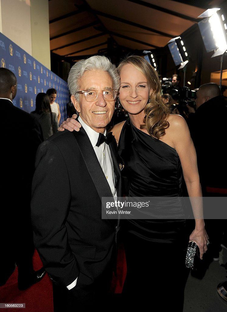 Director Gordon Hunt and daughter actress <a gi-track='captionPersonalityLinkClicked' href=/galleries/search?phrase=Helen+Hunt&family=editorial&specificpeople=203193 ng-click='$event.stopPropagation()'>Helen Hunt</a> attend the 65th Annual Directors Guild Of America Awards at Ray Dolby Ballroom at Hollywood & Highland on February 2, 2013 in Los Angeles, California.