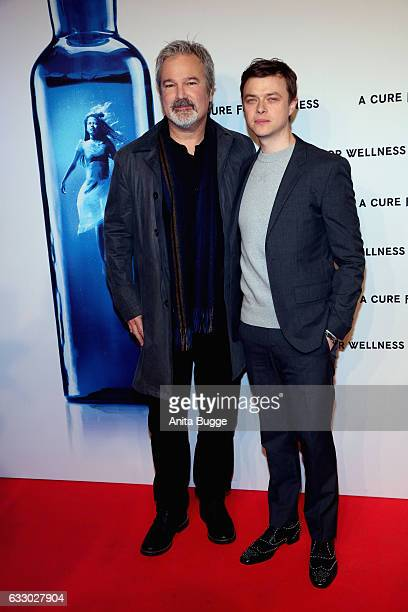 Director Gore Verbinski and actor Dane DeHaan attend the 'A Cure for Wellness' Berlin premiere on January 29 2017 in Berlin Germany