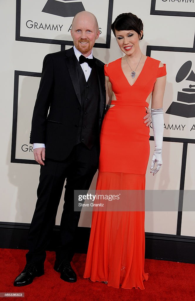 Director Grady Hall (L) attends the 56th GRAMMY Awards at Staples Center on January 26, 2014 in Los Angeles, California.