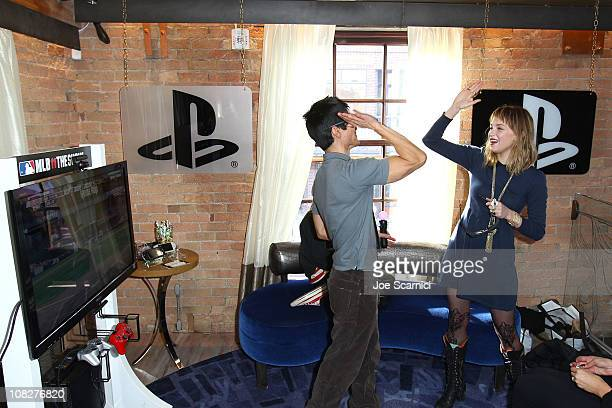 Director Gregg Araki and actress Haley Bennett attend the PlayStation Lounge at The Silver on January 23 2011 in Park City Utah