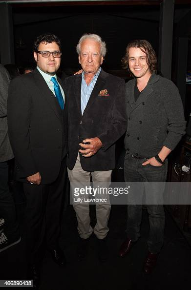 Director Gregori J Martin Actors Nicolas Coster and Riley Bodenstab attend LANY Entertainment's 4th Annual Industry Mixer And Cocktail Party at Open...