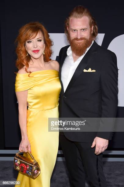 Director Gry Molvær Hivju and Actor Kristofer Hivju attend 'The Fate Of The Furious' New York Premiere at Radio City Music Hall on April 8 2017 in...
