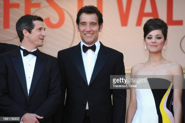 Director Guillaume Canet Actor Clive Owan and Marion Cotillard attend the 'Blood Ties' Premiere during the 66th Annual Cannes Film Festival at the...