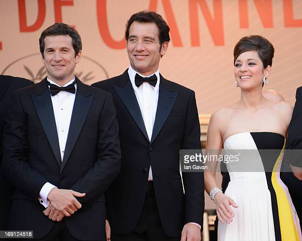Director Guillaume Canet actor Clive Owen and actress Marion Cotillard attend the 'Blood Ties' Premiere during the 66th Annual Cannes Film Festival...