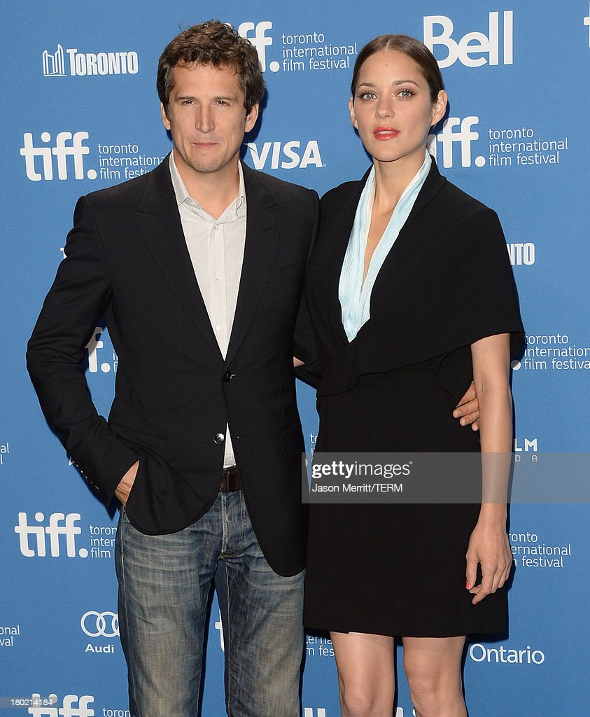 Director Guillaume Canet and actress Marion Cotillard attend 'Blood Ties' Press Conference during the 2013 Toronto International Film Festival at TIFF Bell Lightbox on September 10, 2013 in Toronto, Canada.