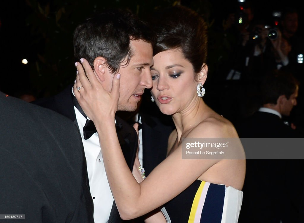 Director Guillaume Canet (L) and actress Marion Cotillard attend the 'Blood Ties' Premiere during the 66th Annual Cannes Film Festival at Grand Theatre Lumiere on May 20, 2013 in Cannes, France.