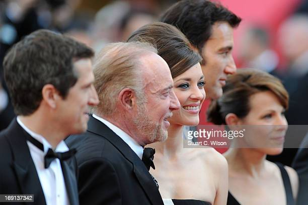 Director Guillaume Canet James Caan Marion Cotillard Clive Owen and Lili Taylor attend the 'Blood Ties' Premiere during the 66th Annual Cannes Film...