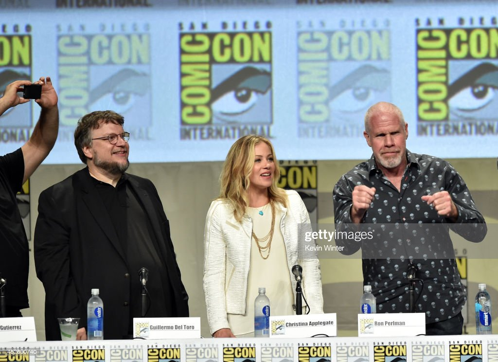Director Guillermo del Toro, actors Christina Applegate and Ron Perlman attend the 20th Century Fox presentation during Comic-Con International 2014 at San Diego Convention Center on July 25, 2014 in San Diego, California.
