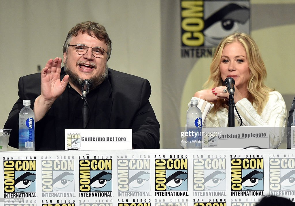 Director Guillermo del Toro and actress Christina Applegate attend the 20th Century Fox presentation during Comic-Con International 2014 at San Diego Convention Center on July 25, 2014 in San Diego, California.