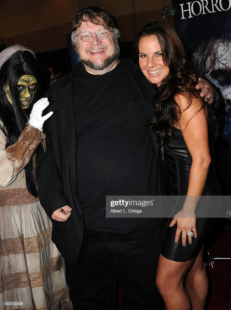 Director <a gi-track='captionPersonalityLinkClicked' href=/galleries/search?phrase=Guillermo+del+Toro&family=editorial&specificpeople=609181 ng-click='$event.stopPropagation()'>Guillermo del Toro</a> and actress <a gi-track='captionPersonalityLinkClicked' href=/galleries/search?phrase=Kate+del+Castillo&family=editorial&specificpeople=751402 ng-click='$event.stopPropagation()'>Kate del Castillo</a> arrives for Universal Studios Hollywood 'Halloween Horror Night' and Eye Gore Awards Kick Off Party held at Universal Studios Hollywood on September 21, 2012 in Universal City, California.
