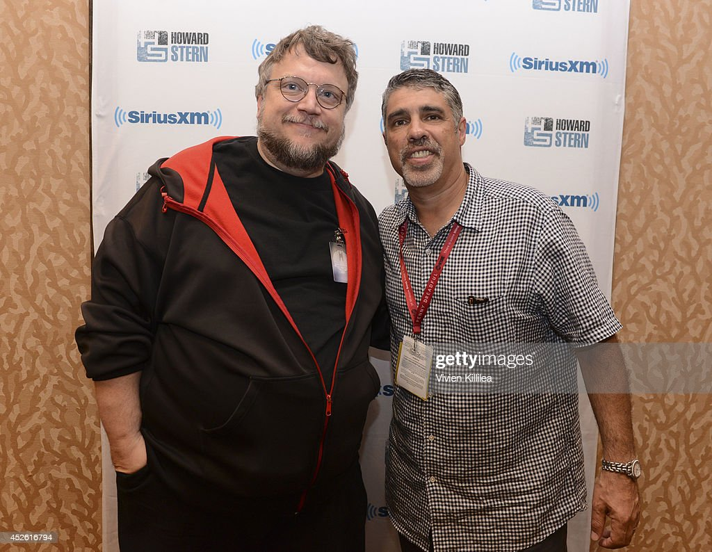 jd harmeyer from the howard stern show interviews director director guillermo del toro and radio personality gary dell abate attend jd harmeyer from the