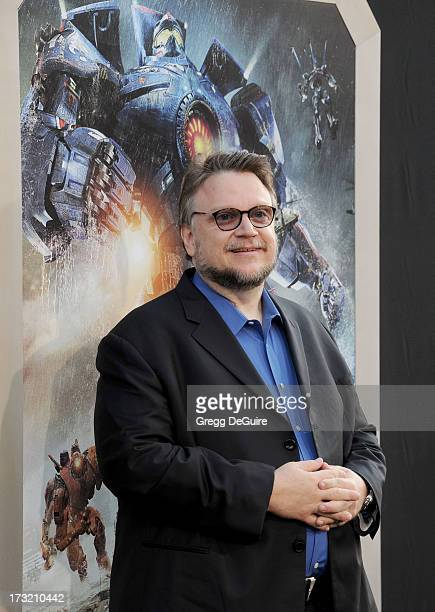 Director Guillermo del Toro arrives at the Los Angeles premiere of 'Pacific Rim' at Dolby Theatre on July 9 2013 in Hollywood California