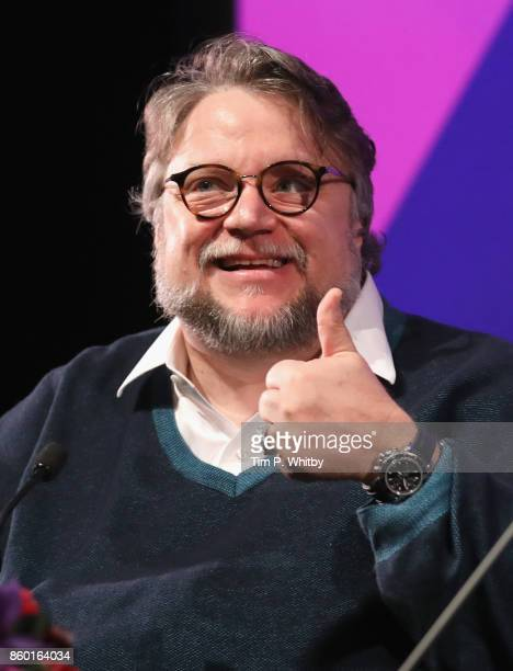 Director Guillermo Del Toro attends a Screen Talk during the 61st BFI London Film Festival on October 11 2017 in London England