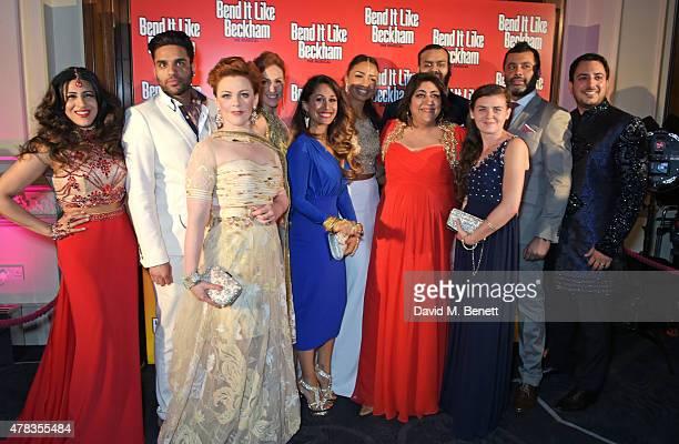 Director Gurinder Chadha poses with cast members including Sejal Keshwala Raj Bajaj SophieLouise Dann Lisa Bridge Preeya Kalidas Chloe Chambers Tony...
