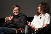 Director Gus Van Sant and actress Minnie Driver speak onstage at the Tribeca Film Institute and Alfred P Sloan Foundation's celebration of the 2015...