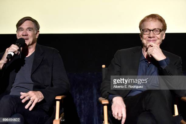 Director Gus Van Sant and composer Danny Elfman attend the premiere of 'Rabbit Rogue' during the 2017 Los Angeles Film Festival at Arclight Cinemas...