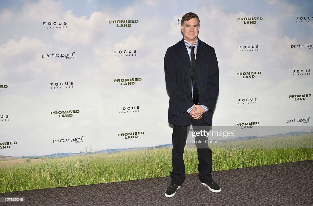 Director Gus Van Sant attends the ''Promised Land' Los Angeles premiere at Directors Guild Of America on December 6, 2012 in Los Angeles, California.