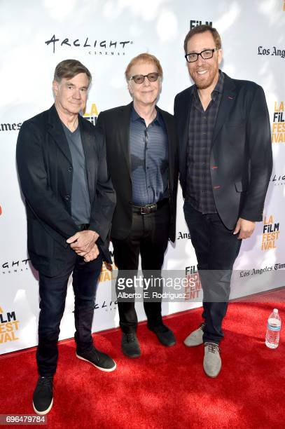 Director Gus Van Sant composer Danny Elfman and director Rob Minkoff attend the premiere of 'Rabbit Rogue' during the 2017 Los Angeles Film Festival...