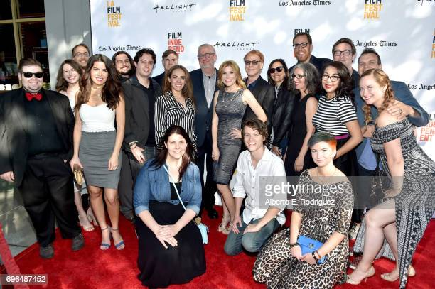 Director Gus Van Sant composer Danny Elfman director Rob Minkoff and contestants attend the premiere of 'Rabbit Rogue' during the 2017 Los Angeles...