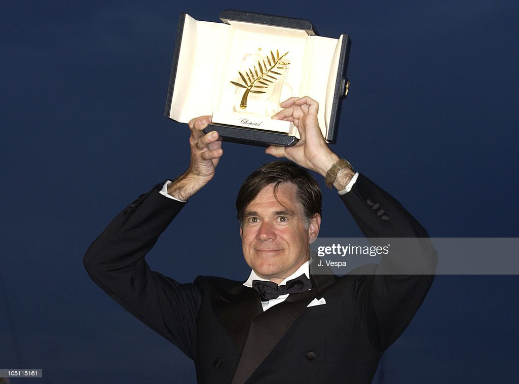 Director <a gi-track='captionPersonalityLinkClicked' href=/galleries/search?phrase=Gus+Van+Sant&family=editorial&specificpeople=626229 ng-click='$event.stopPropagation()'>Gus Van Sant</a>, winner of the Palm D'Or for his film, Elephant