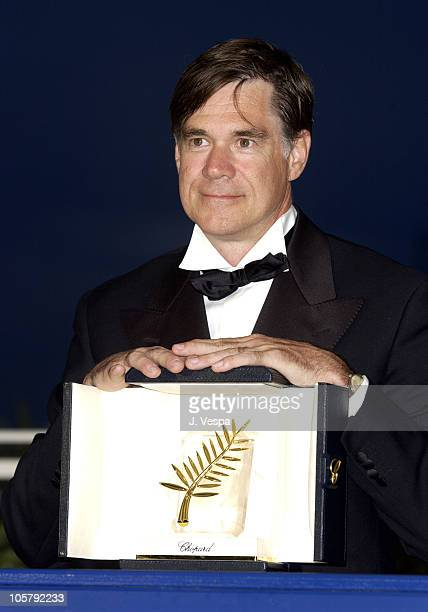 Director Gus Van Sant winner of the Palm D'Or for his film Elephant