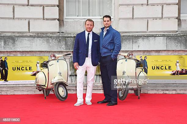 Director Guy Ritchie and Henry Cavill attend the people's premiere of 'The Man From UNCLE' during Film4 Summer Screenings at Somerset House on August...