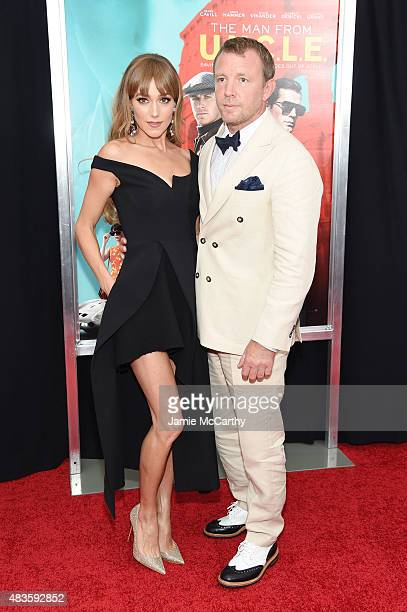 Director Guy Ritchie and Jacqui Ainsley attend the New York Premiere of 'The Man From UNCLE' at Ziegfeld Theater on August 10 2015 in New York City