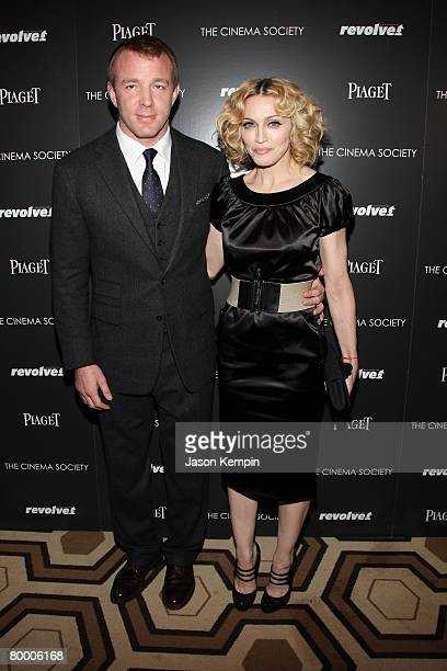 Director Guy Ritchie and musician Madonna attend the premiere of Revolver at the Tribeca Grand screening room on December 2 2007 in New York City