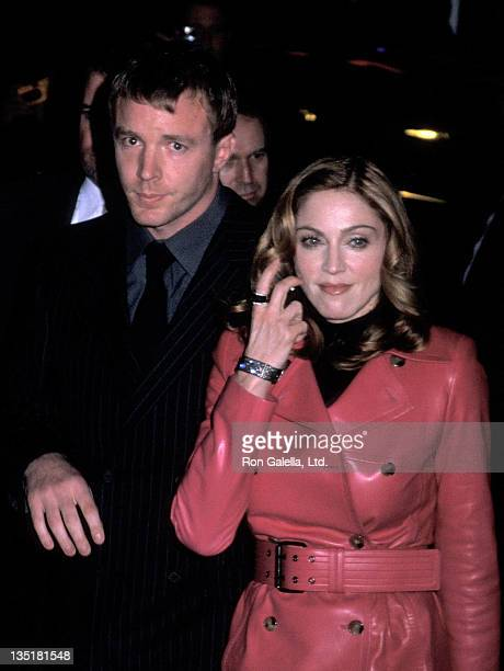 Director Guy Ritchie and singer Madonna 'The Next Best Thing' New York City Premiere on February 29 2000 at Loews Cineplex EWalk in New York City