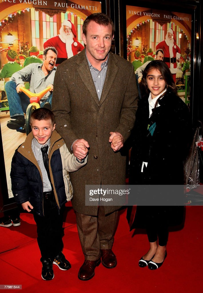 Director <a gi-track='captionPersonalityLinkClicked' href=/galleries/search?phrase=Guy+Ritchie&family=editorial&specificpeople=239519 ng-click='$event.stopPropagation()'>Guy Ritchie</a>, <a gi-track='captionPersonalityLinkClicked' href=/galleries/search?phrase=Rocco+Ritchie&family=editorial&specificpeople=2195932 ng-click='$event.stopPropagation()'>Rocco Ritchie</a> and Lourdes Leon arrive at the European premiere of 'Fred Claus' at the Empire Cinema Leicester Square on November 19, 2007 in London, England.