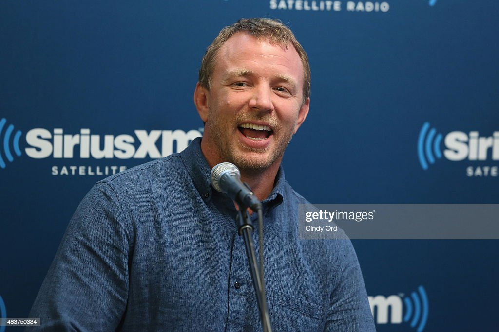 Director Guy Ritchie takes part in SiriusXM's Entertainment Weekly Radio 'The Man from U.N.C.L.E.' Town Hall with Guy Ritchie, Henry Cavill and Armie Hammer on August 12, 2015 in New York City.