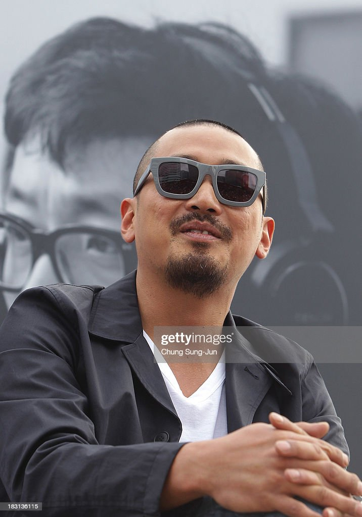 Director Ha Jung-Woo attends the Open Talk -Fasten Your Seatbelt- at Haeundae beach during the 18th Busan International Film Festival on October 5, 2013 in Busan, South Korea.