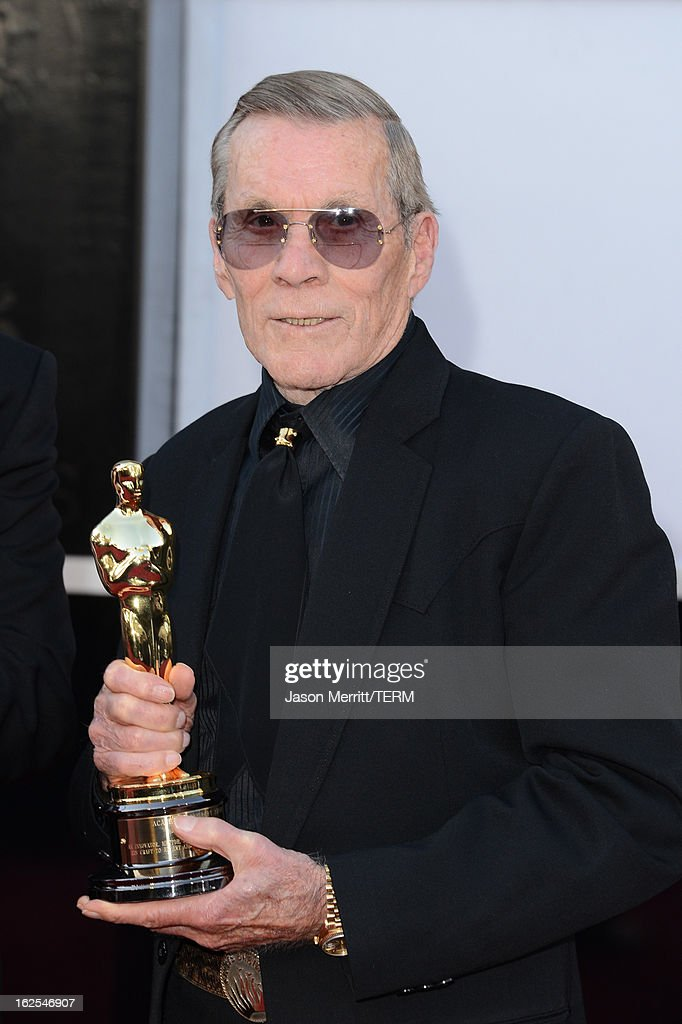 Director Hal Needham arrives at the Oscars at Hollywood & Highland Center on February 24, 2013 in Hollywood, California.