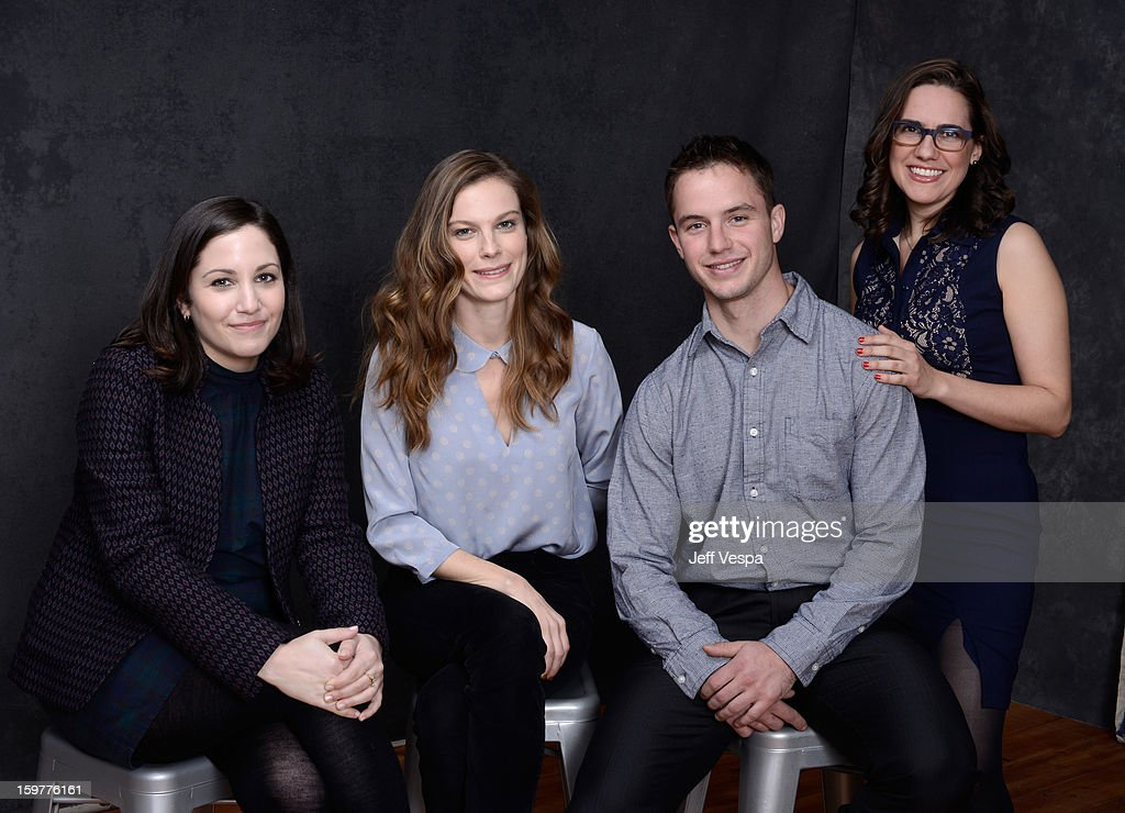 Director Hannah Fidell, actress Lindsay Burdge, actor Will Brittain, and actress Jennifer Prediger pose for a portrait during the 2013 Sundance Film Festival at the WireImage Portrait Studio at Village At The Lift on January 20, 2013 in Park City, Utah.