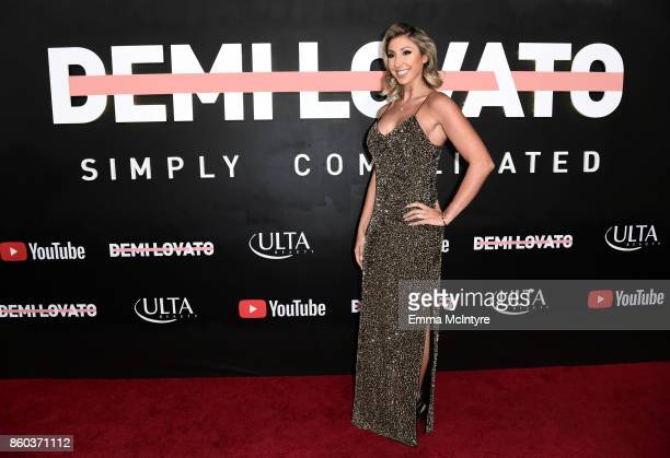 Director Hannah Lux Davis attends the 'Demi Lovato Simply Complicated' YouTube premiere at The Fonda Theatre on October 11 2017 in Los Angeles...