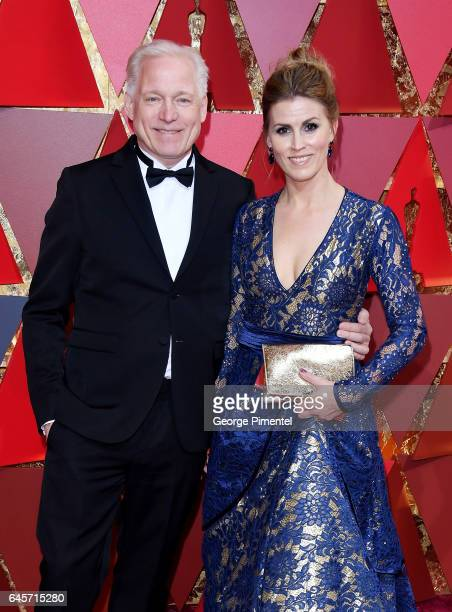Director Hannes Holm and moderator Sarah Valentina Winkhaus attend the 89th Annual Academy Awards at Hollywood Highland Center on February 26 2017 in...