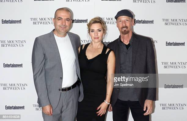 Director Hany AbuAssad actress Kate Winslet and film editor Lee Percy attend the 'The Mountain Between Us' special screening at Time Inc Screening...