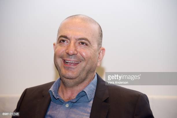 Director Hany AbuAssad at 'The Mountain Between Us' press conference at the SoHo Hotel on June 19 2017 in London England