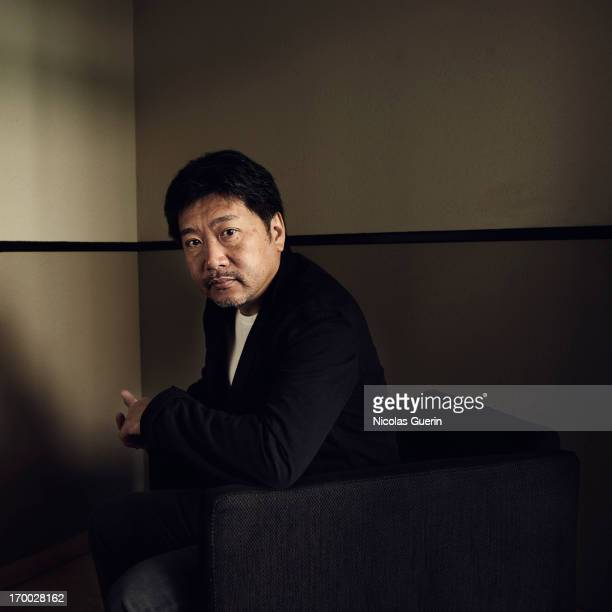 Director Hirokazu Kore Eda is photographed for Self Assignment on May 20 2013 in Cannes France