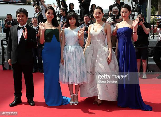 Director Hirokazu Koreeda and actresses Masami Nagasawa Suzu Hirose Haruka Ayase and Kaho attend the Premiere of 'Umimachi Diary' during the 68th...