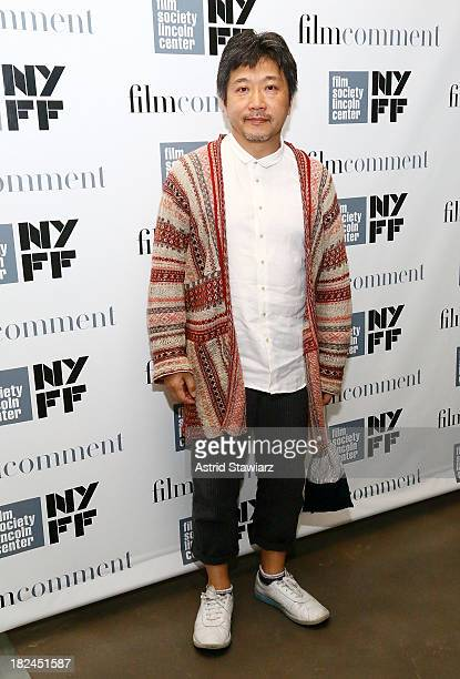 Director Hirokazu Koreeda attends 'Like Father Like Son' panel at Elinor Bunin Munroe Film Center on September 29 2013 in New York City