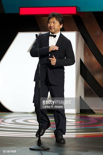 Director Hirokazu Koreeda attends the inauguration Gala of the 61th San Sebastian Film Festival at the Kursaal Palace on September 20 2013 in San...