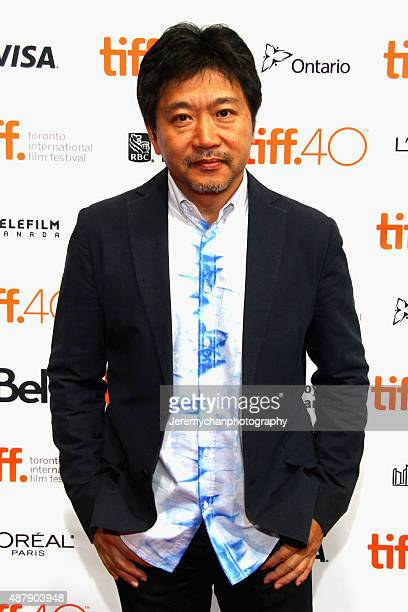 Director Hirokazu Koreeda attends the 'Our Little Sister' premiere during the 2015 Toronto International Film Festival held at the TIFF Bell Lightbox...