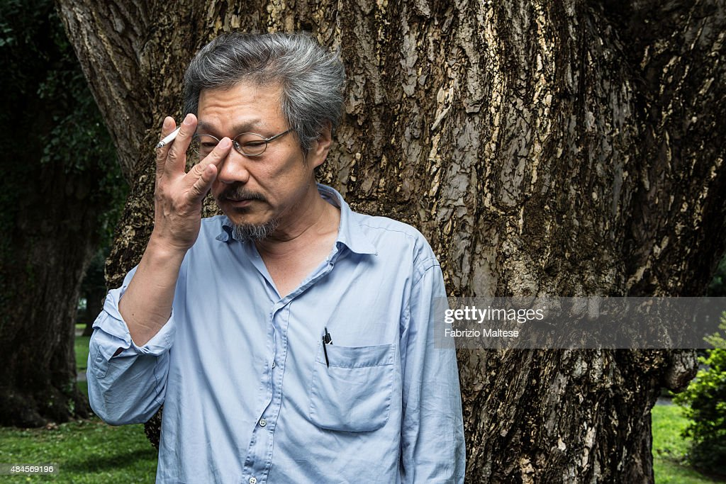 Director Hong Sang-soo is photographed for Self Assignment on August 7, 2015 in Locarno, Switzerland.