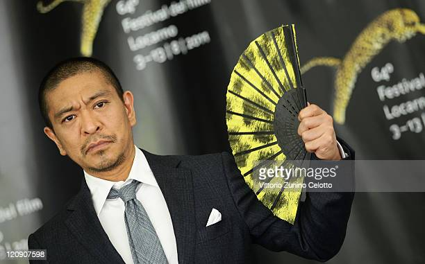 Director Hotoshi Matsumoto attends 'Saya Zamurai' photocall during the 64th Festival del Film di Locarno on August 12 2011 in Locarno Switzerland