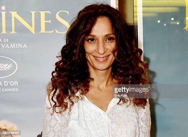 Director Houda Benyamina attends the 'Divines' Paris Premiere at UGC Cite Cine des Halles on August 29 2016 in Paris France