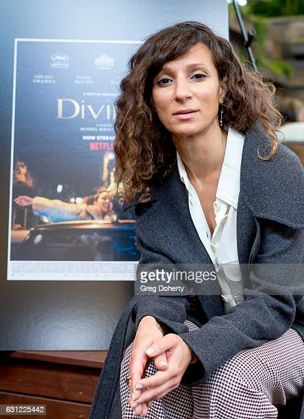 Director Houda Benyamina poses for a picture before the American Cinematheque Panel Discussion With Golden Globe Nominated ForeignLanguage Directors...
