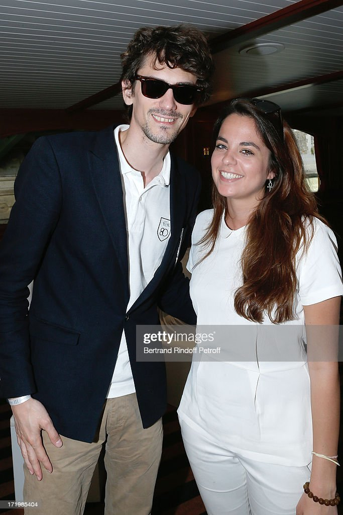 Director Hugo Gelin and Anouchka Delon attend 'Brunch Blanc' hosted by Groupe Barriere for Sodexho on June 30, 2013 in Paris, France.