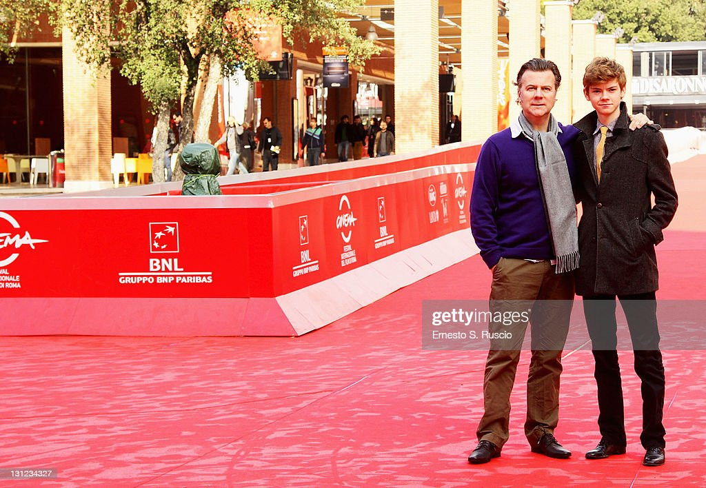 Director Ian Fitzgibbon and actor Thomas Brodie-Sangster attend the 'Death of a Super Hero' photocall during the 6th International Rome Film Festival on November 3, 2011 in Rome, Italy.